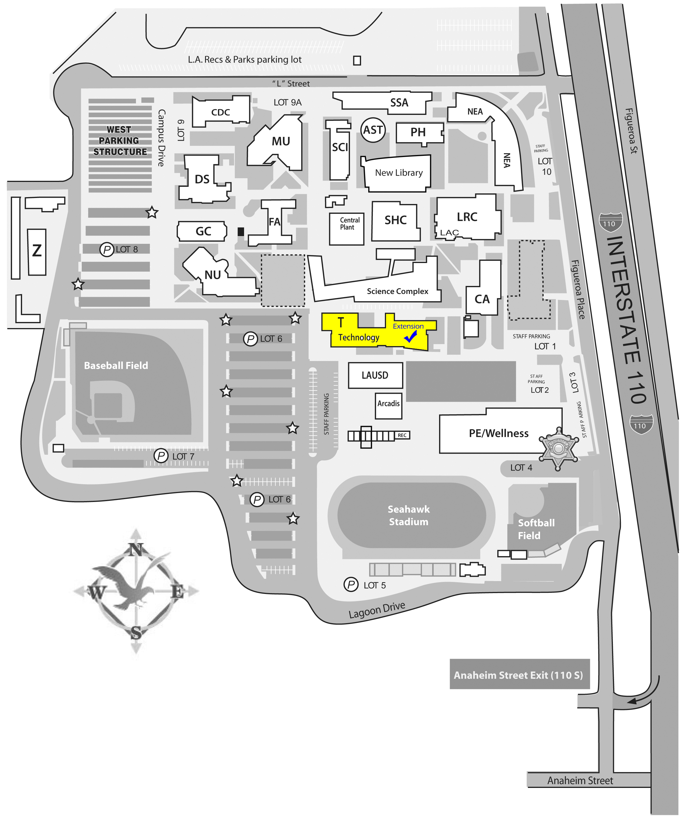 LAHC EXT Campus Map