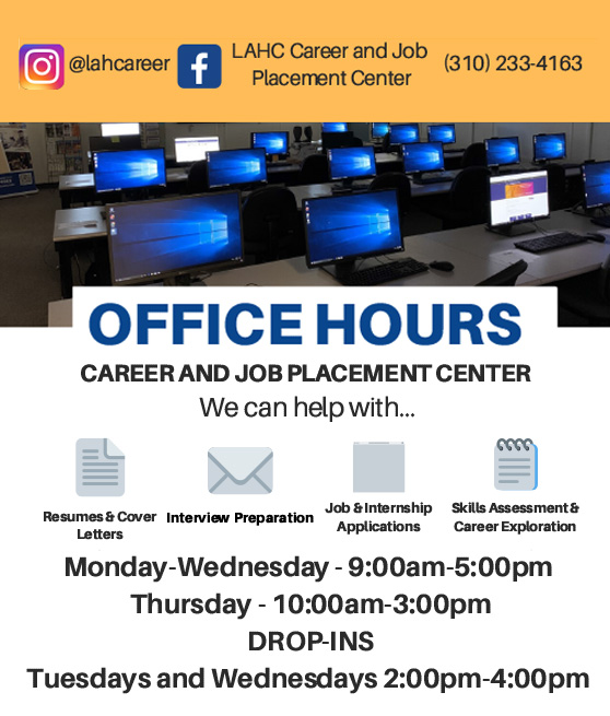 career and job placement winter office hours