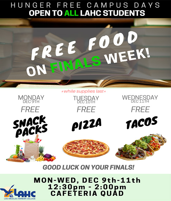 Hunger Free Campus December 9th through 11th