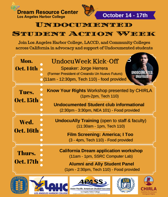 undocumented student action week october 14th to 17th