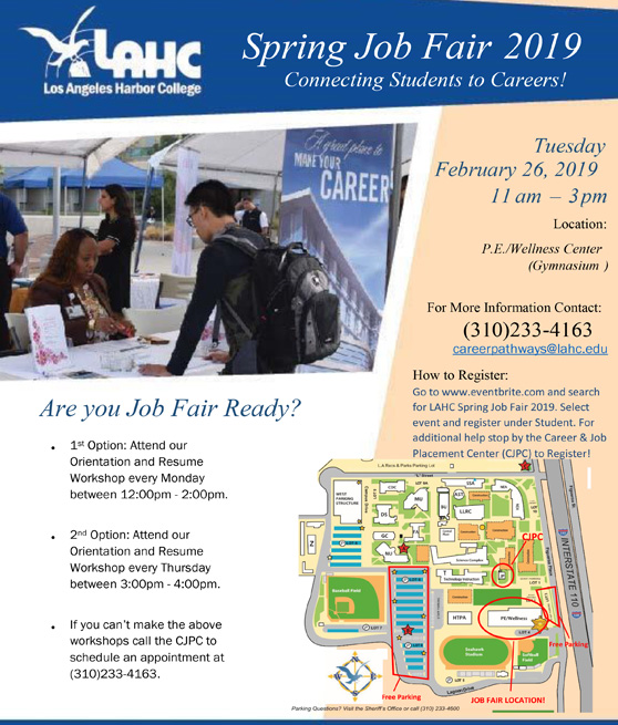 spring job fair february 26 11am to 3pm