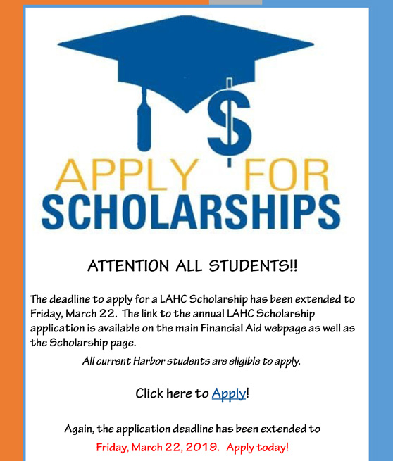 attention all students apply for scholarships 2019