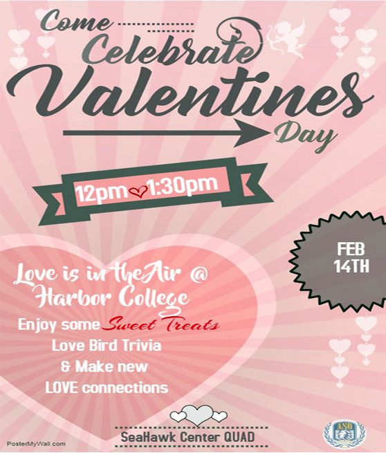 Celebrate Valentines Day february 14th 2019 12-1:30pm